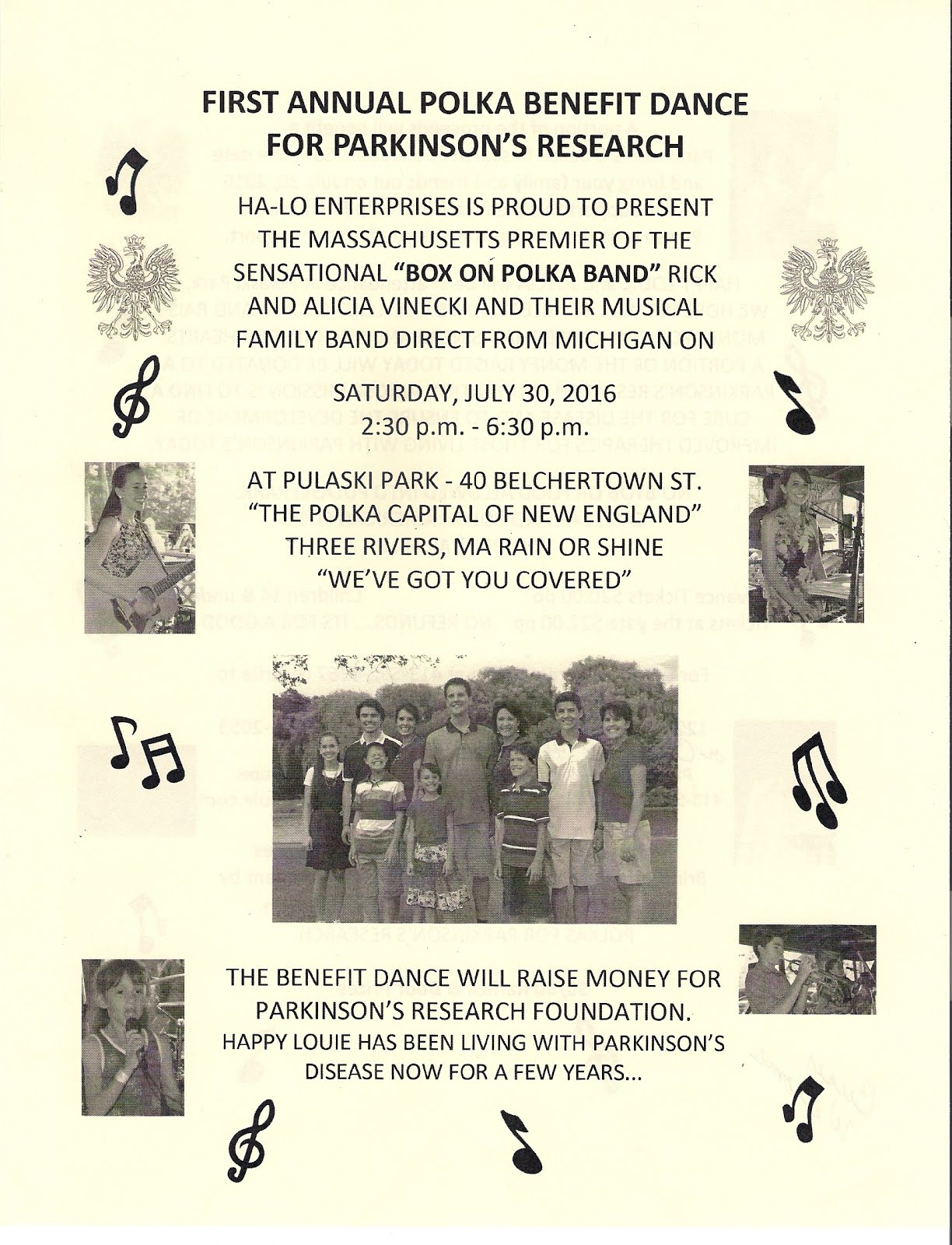 First Annual Polka Benefit Dance for Parkinson's Research