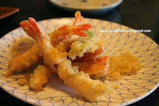 tempura mori japanese fried vegetables prawns ebi