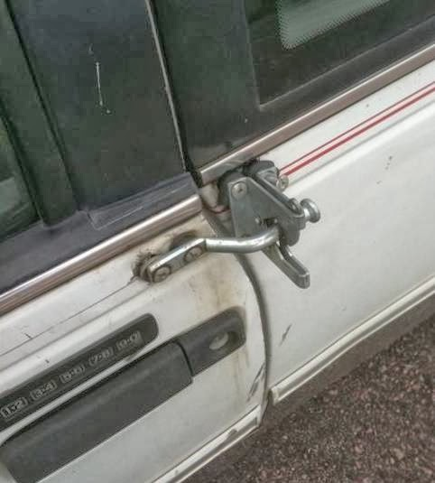 I replaced the broken door latch on her car.