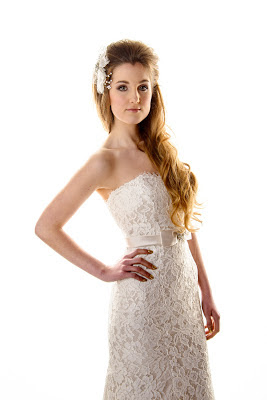 long wedding hairstyles, wedding dress, young bridal hairdressing looks