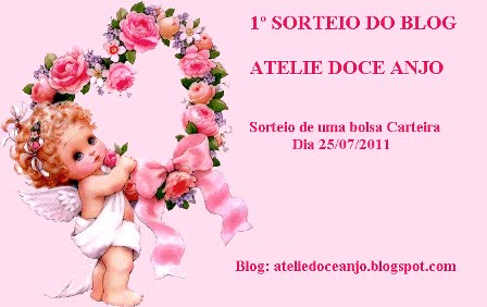 1º Sorteio do Blog Atelie Doce Anjo