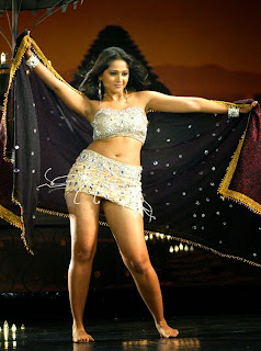 Anushak Shetty in glittering bikini style Choli and mini skirt spicy dance Stills