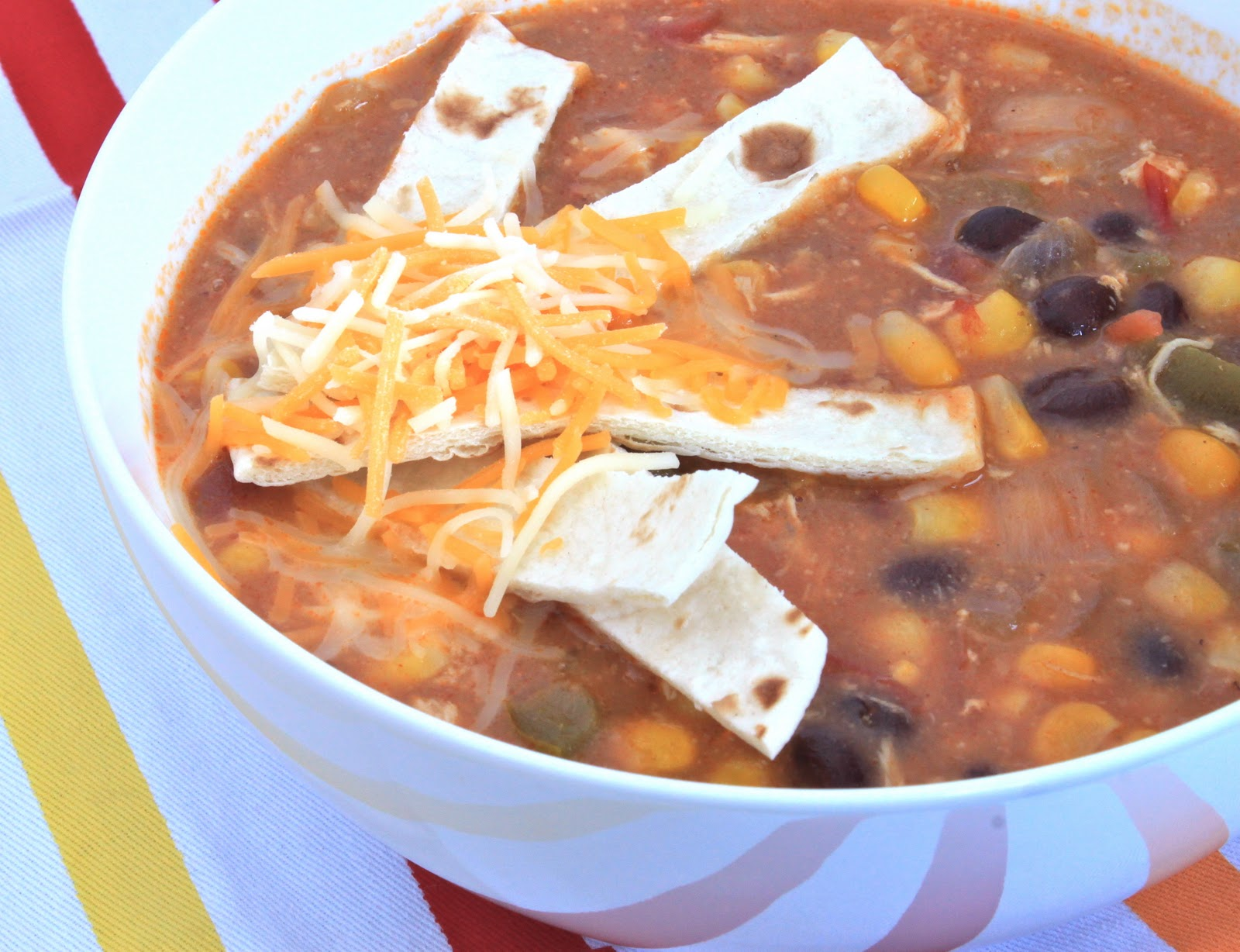 crock pot chicken enchilada soup | greens & chocolate