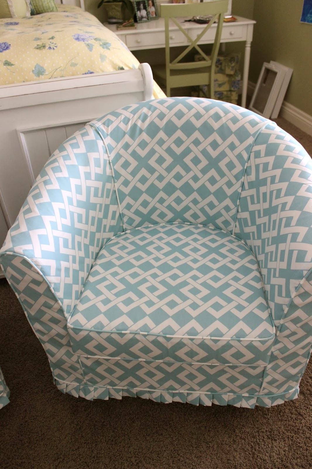 Custom Slipcovers By Shelley Pair Of Barrel Chairs