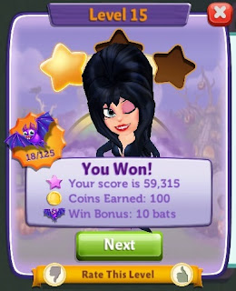Elvira winking at Farmville Harvest Swap