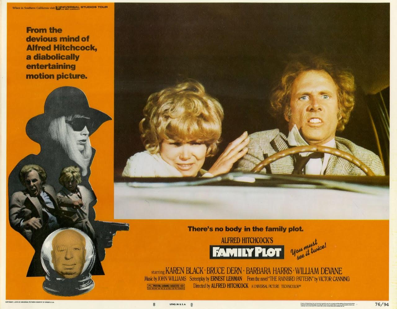 Family Plot by Alfred Hitchcock - Complotto di Famiglia