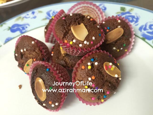 muffin nuttella mudah disediakan untuk minum petang, menu mudah