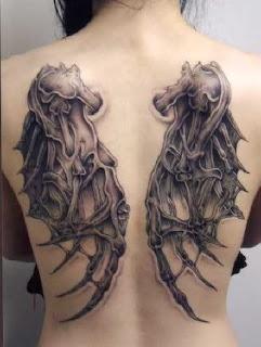 Tatuagens asas demoníaco
