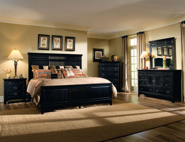 Black bedroom furniture furniture Set de chambre king noir