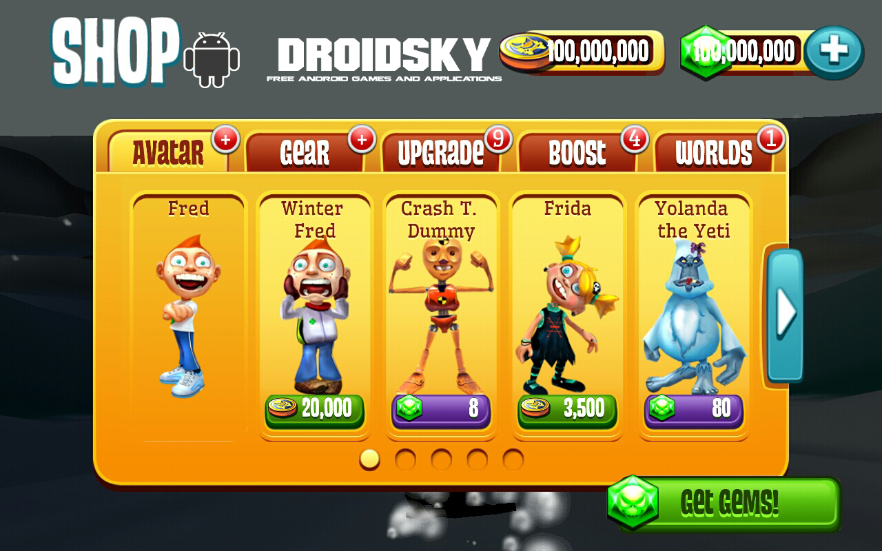 Running Fred V170 Android Hack For Unlimited Money Mod Apk