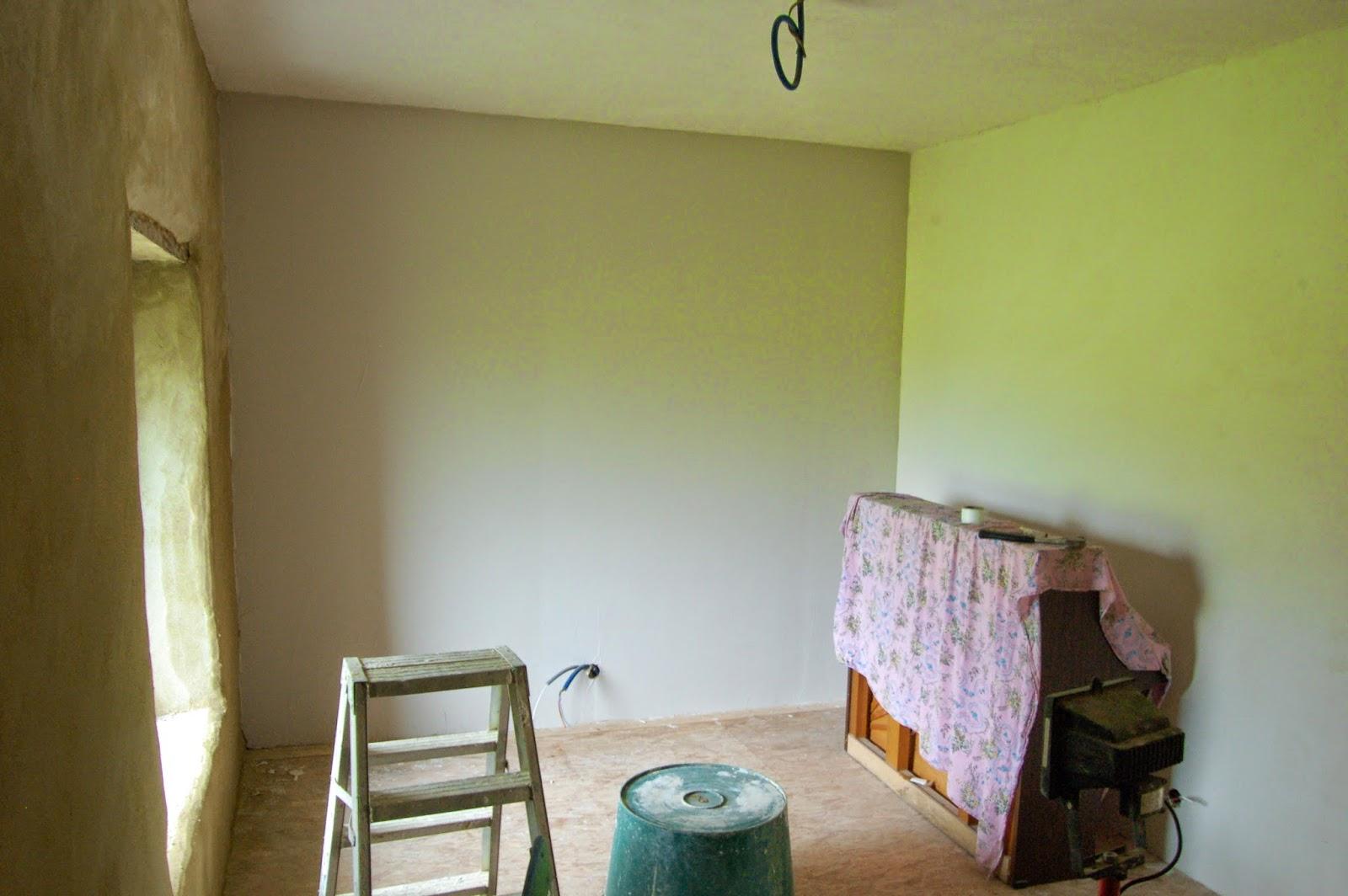 La gremiere en travaux mai 2014 for Peinture couleur argile