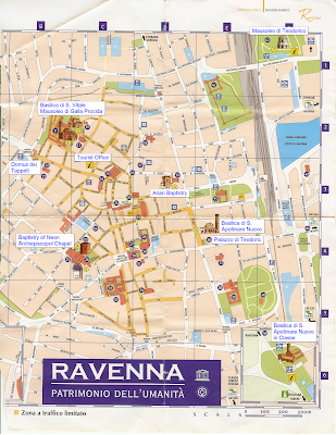 Ravenna Map Annotated with UNESCO sites