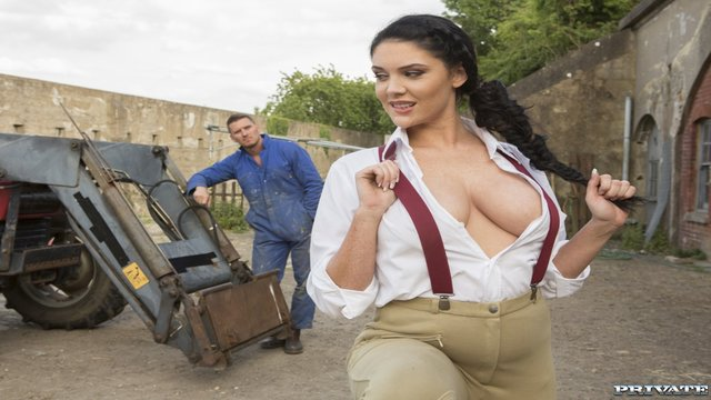 Private | Posh Girl Emma Leigh Takes a Big Farmer's Cock for a Ride