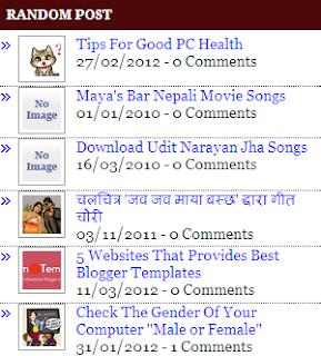 Random post widget,blogger widget