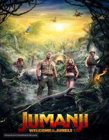 Poster Of Jumanji: Welcome to the Jungle 2017 In Hindi Bluray 720P Free Download