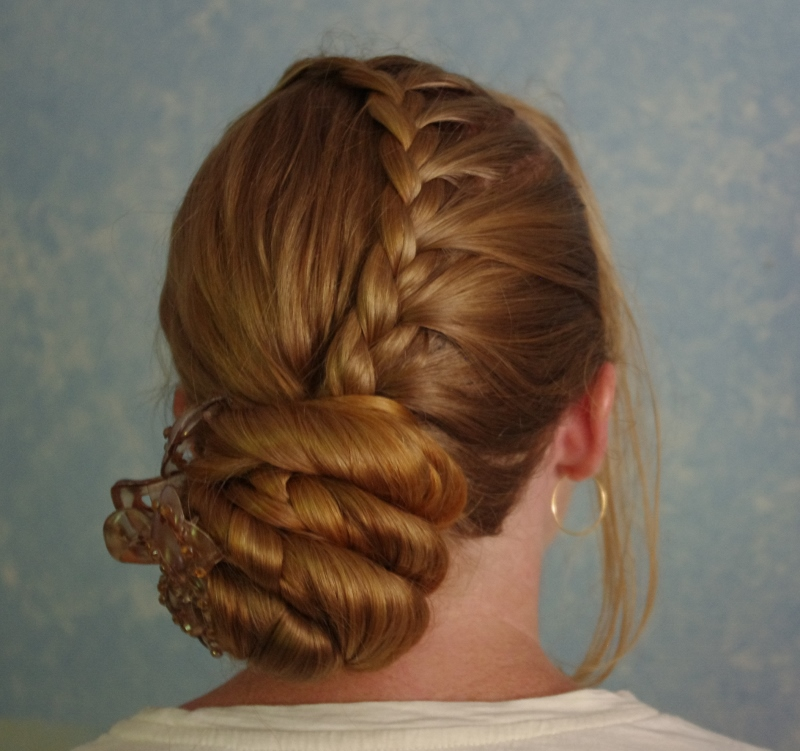 Braids & Hairstyles for Super Long Hair: One-Side Lace Braid (Swoop Braid)