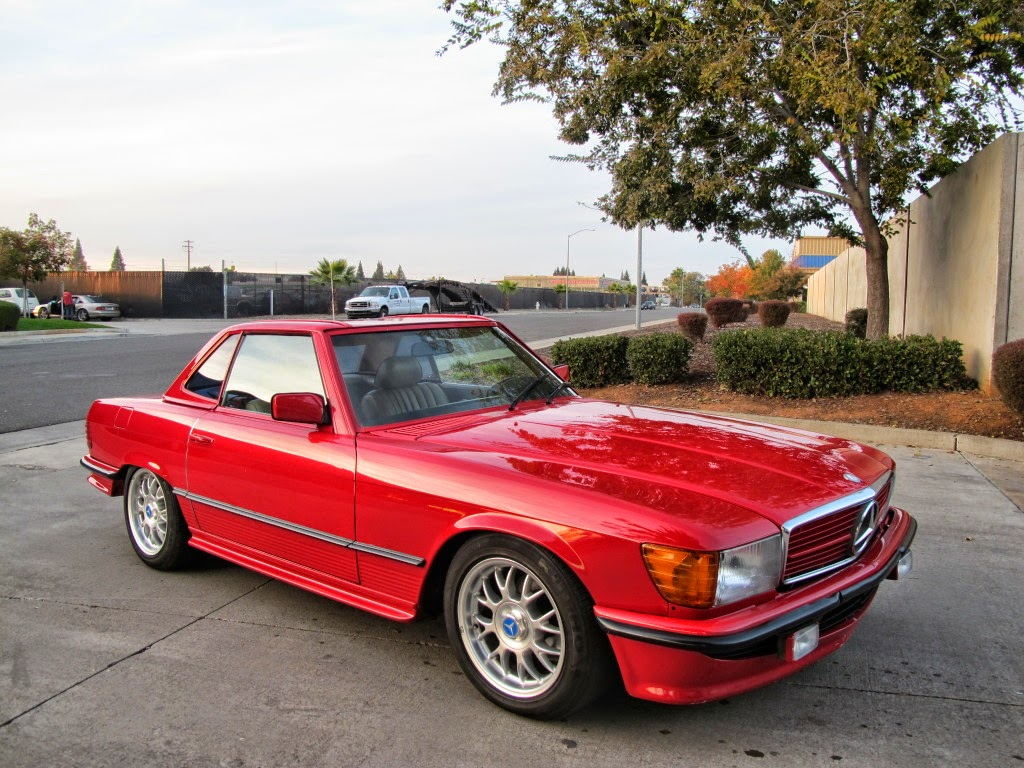 Mercedes benz w107 sl500 red benztuning for Mercedes benz red