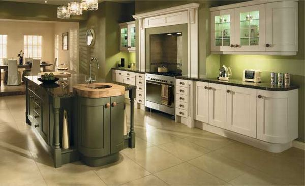 Eye for design olive green interiors for Olive green kitchen accessories