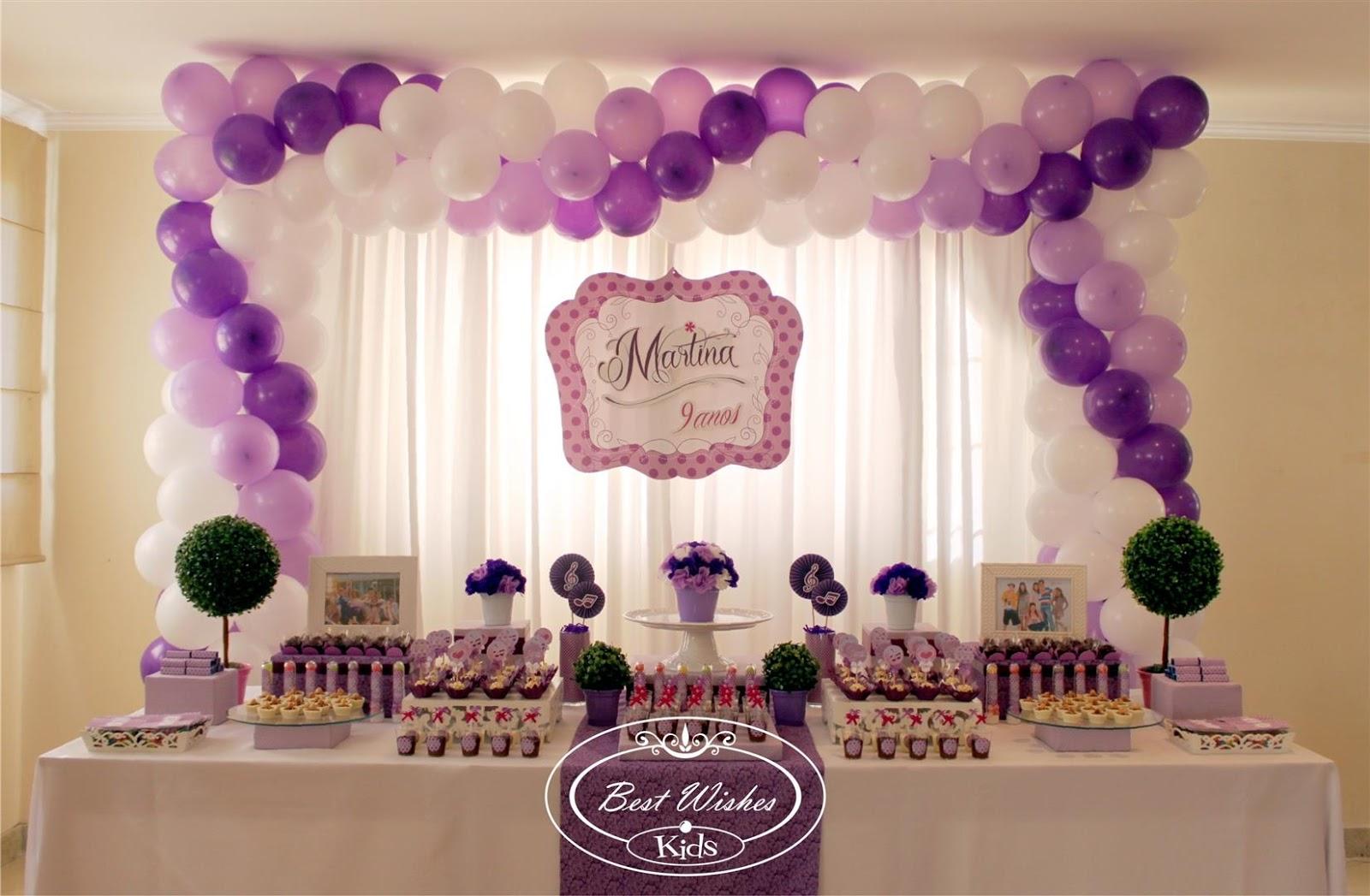 decoracao festa violeta:Best Wishes Design: Festa da Violetta para Martina