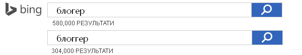 Bing предпочитает блогер