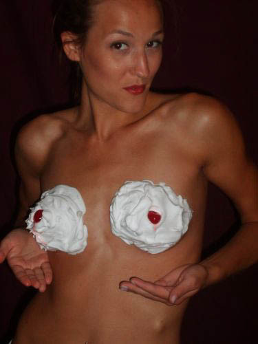 whip cream boobs topless