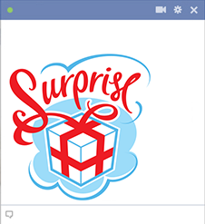 Surprise emoticon for Facebook