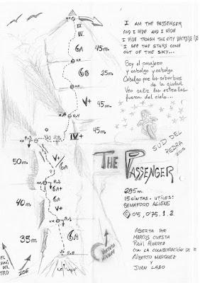 THE PASSENGER  a la cara Sud del Pedraforca. Croquis%2BPassenger