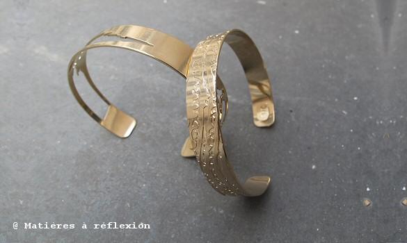 Bracelets Adeline Cacheux ajouré/empreinte