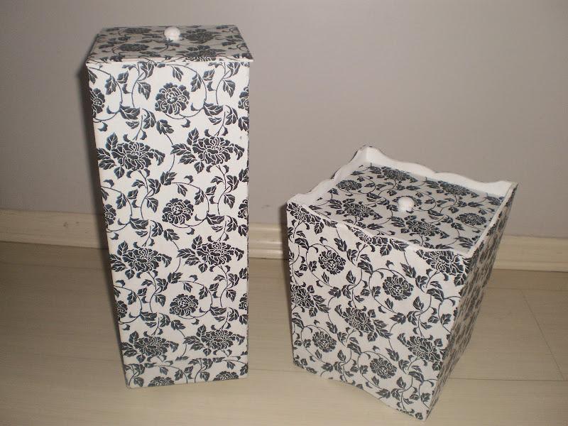 Kit De Banheiro Preto E Branco : Artesanatos juliana kit banheiro floral preto e branco
