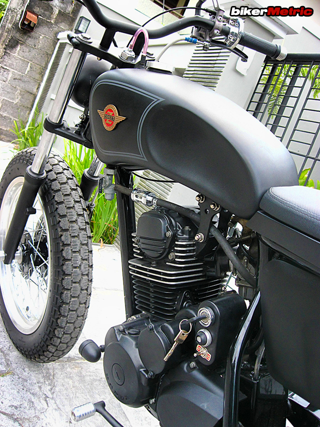 honda gl200 tracker - tank and motor detail | daiztdesign