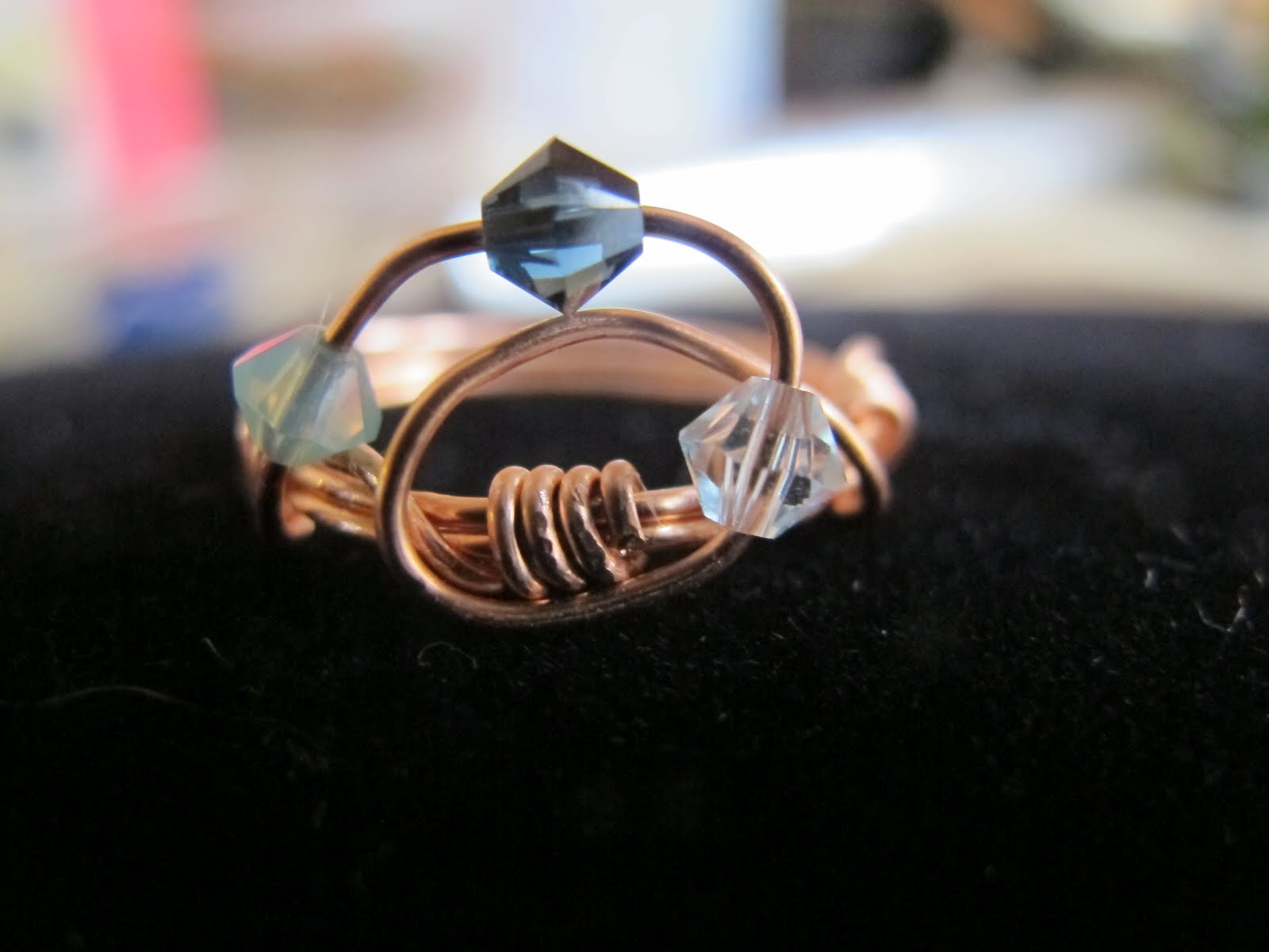 Naomi\'s Designs: Handmade Wire Jewelry: Copper wire wrapped wave ...