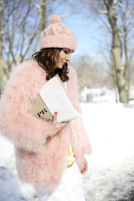 pretty pink coat and hat