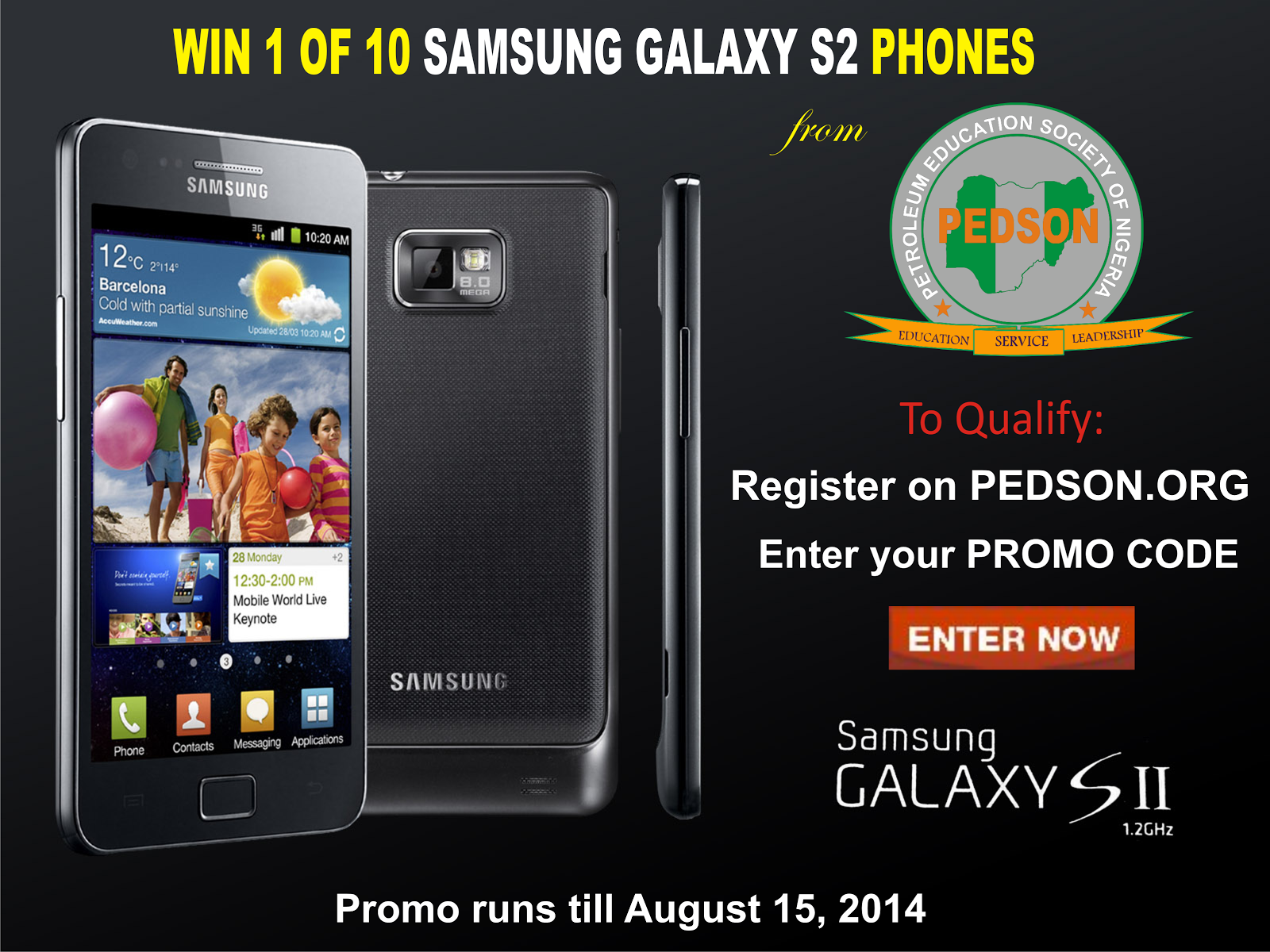 Win a Samsung Galaxy S2 Phone