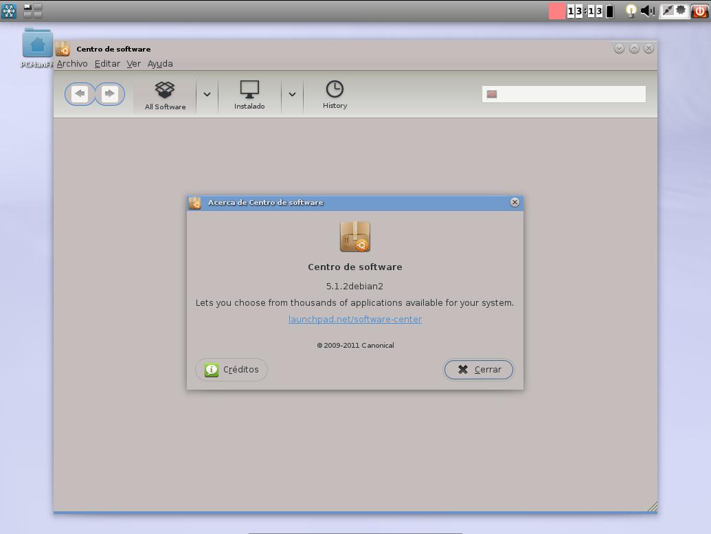 Centro de software en Snowlinux
