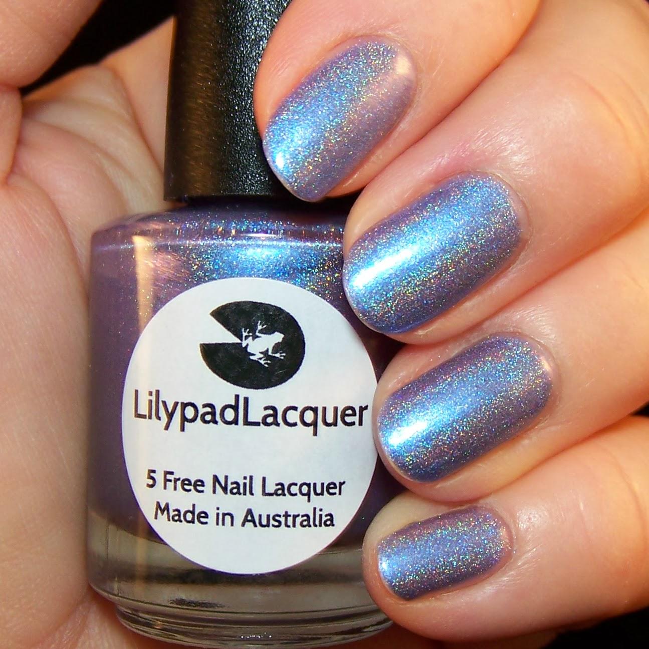 Rockjewel Nails Feeling Semi Precious With Lilypad Lacquer Blue Lace Agate