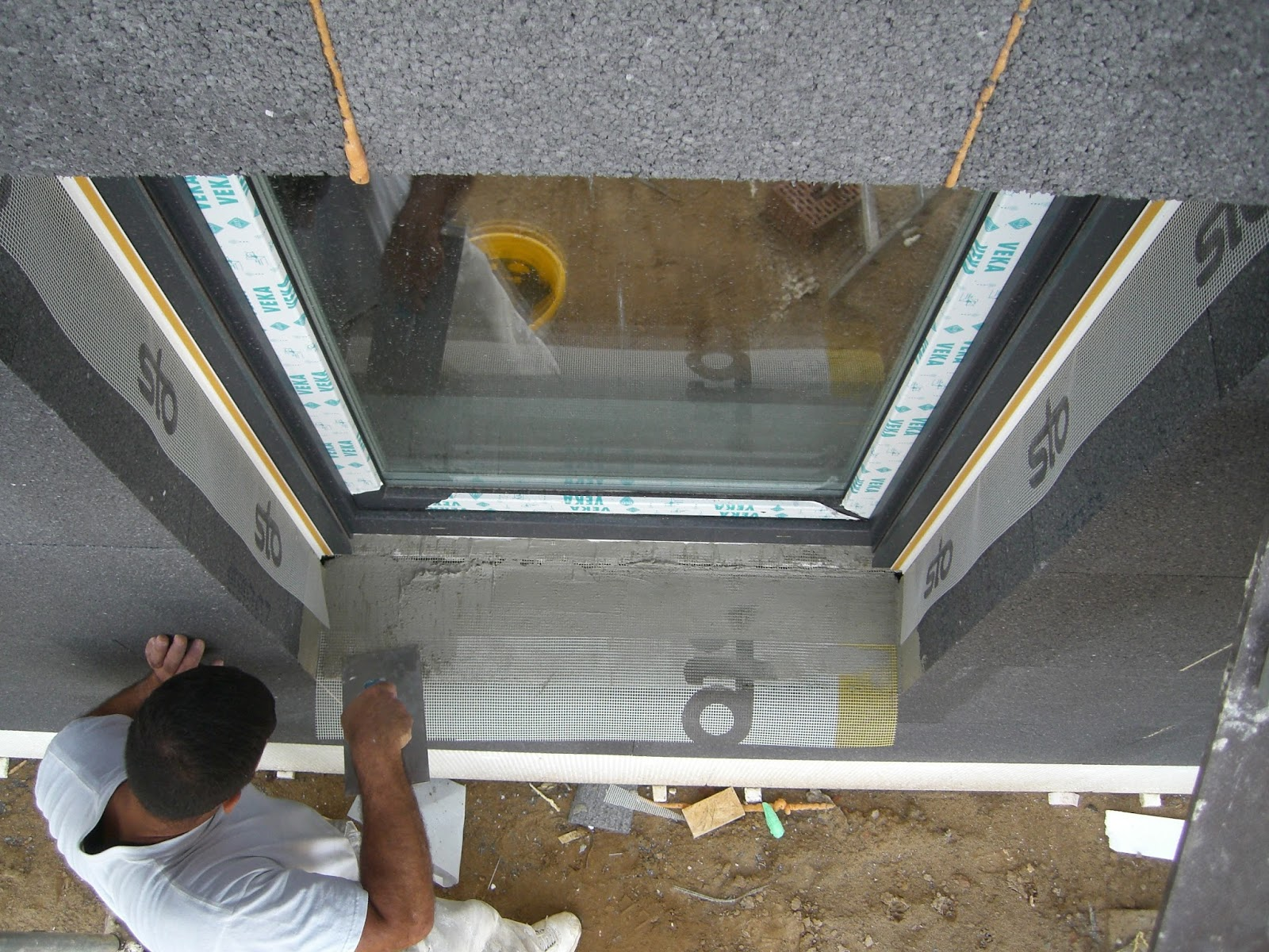 baubericht dachstrift innenputz au enputz und dach. Black Bedroom Furniture Sets. Home Design Ideas