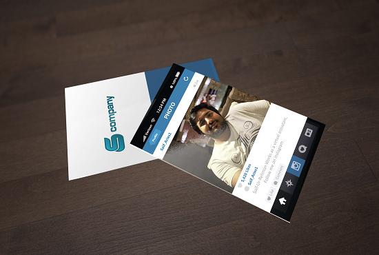 Convert INSTAGRAM Profile into Business Card PSD