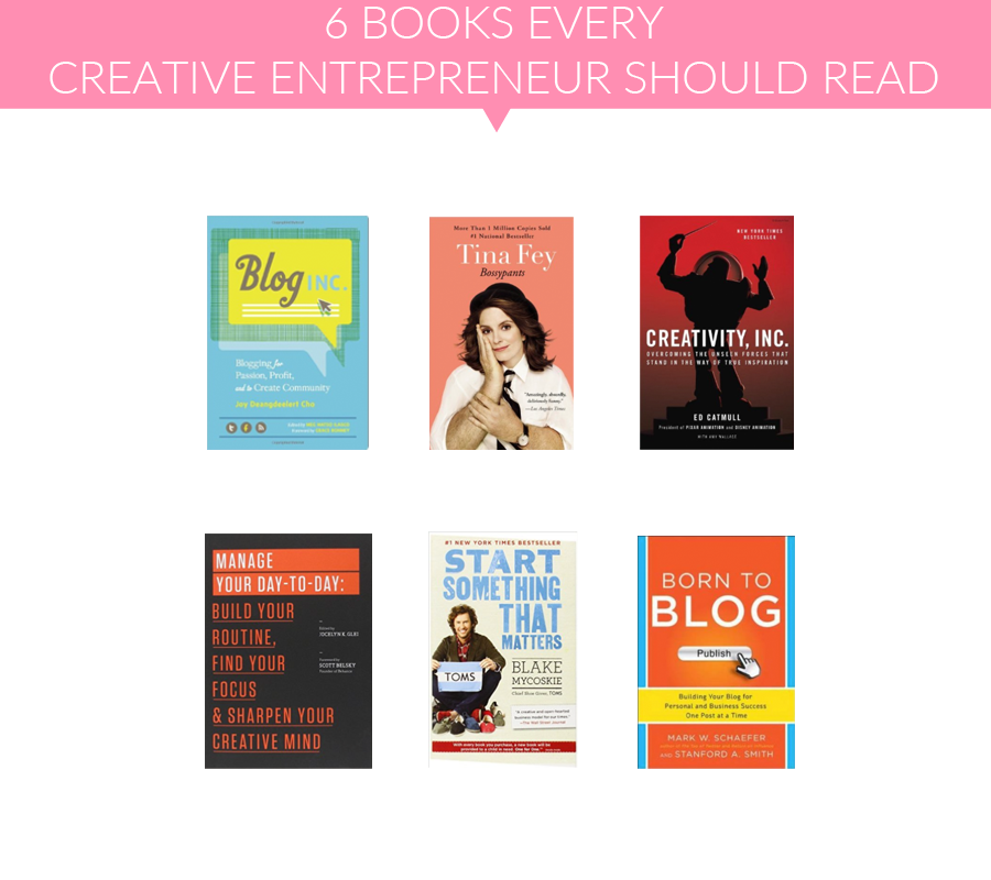 A great list of books creative entrepreneurs/bloggers should read! I haven't seen a lot of these on other lists!