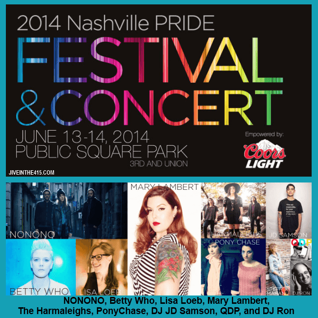 The Nashville LGBT Gay Pride Festival 2014 Headliners