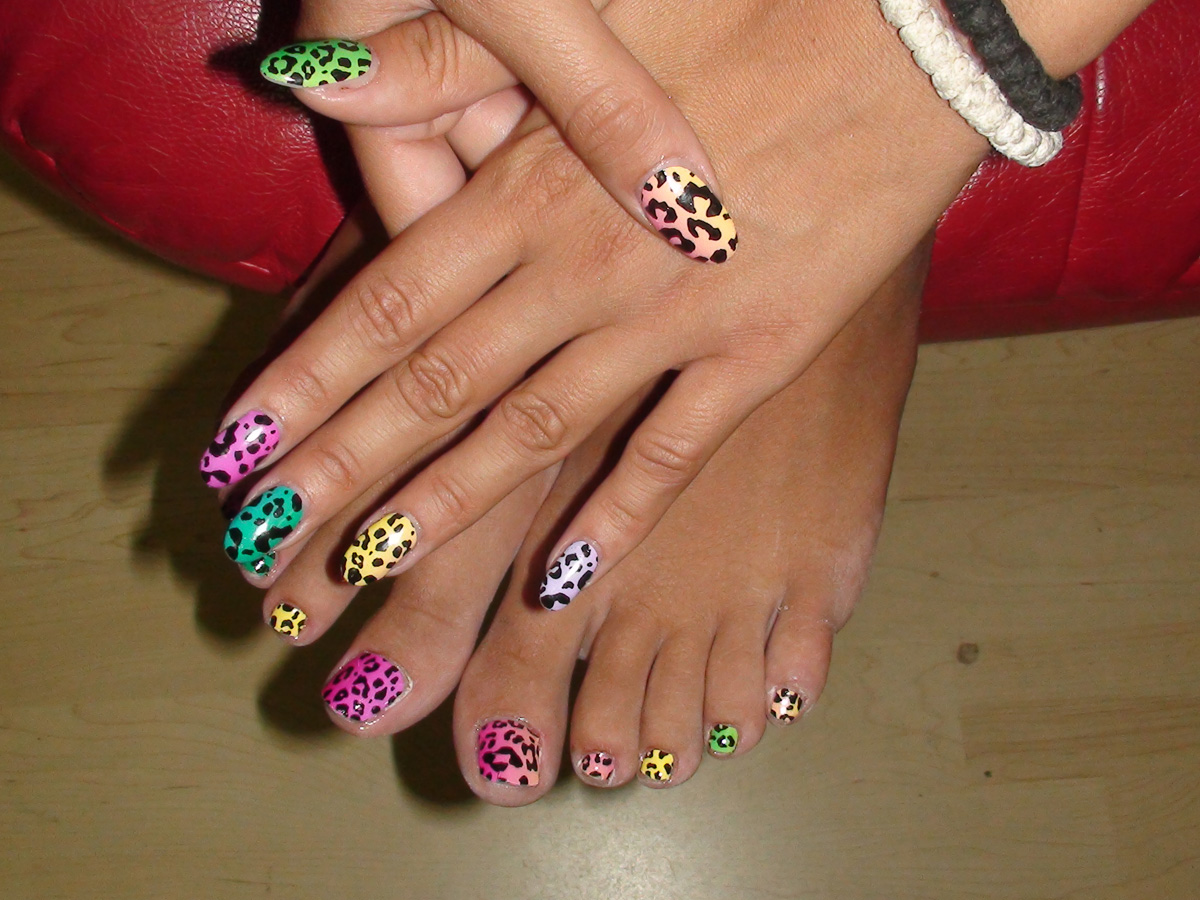 Rainbow Leopard Designed by Kimmie Kyees