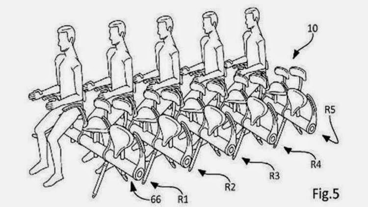 New Airbus Aircraft bicycle seating patent