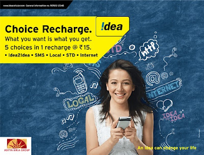 Idea Choice Recharge Rs 15