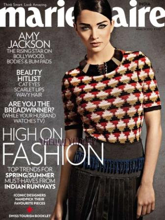 Amy Jackson Marie Claire Cover1 - Amy Jackson Retro Americano Photoshoot for Marie Claire ( March 2012)