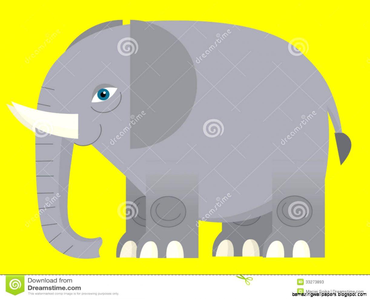 Cartoon Elephant   Illustration For The Children Stock Photos