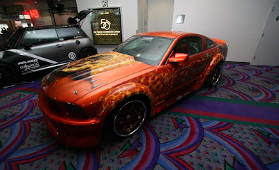 Airbrush Design on Mustang Gt Ghost Raider Themes Side