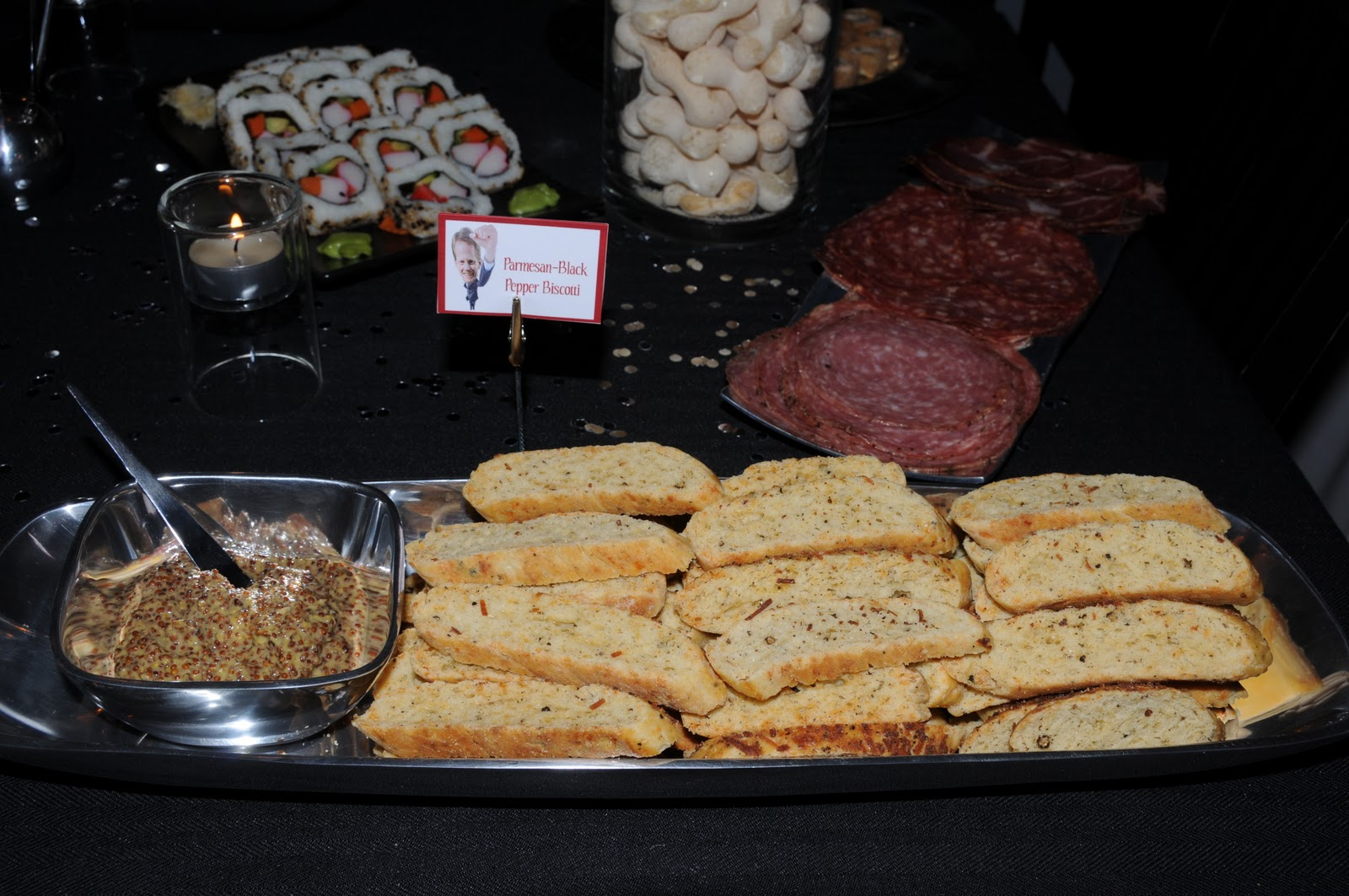 Parmesan-Black Pepper Biscotti with Moutarde à l'Ancienne