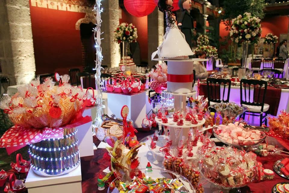 Dulces y eventos mesa de dulces iluminada para boda for Mesa de dulces para boda