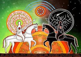 Nuestra la batalla, donde luz y oscuridad son anfitrionas e invitadas de la Eterna Rueda.