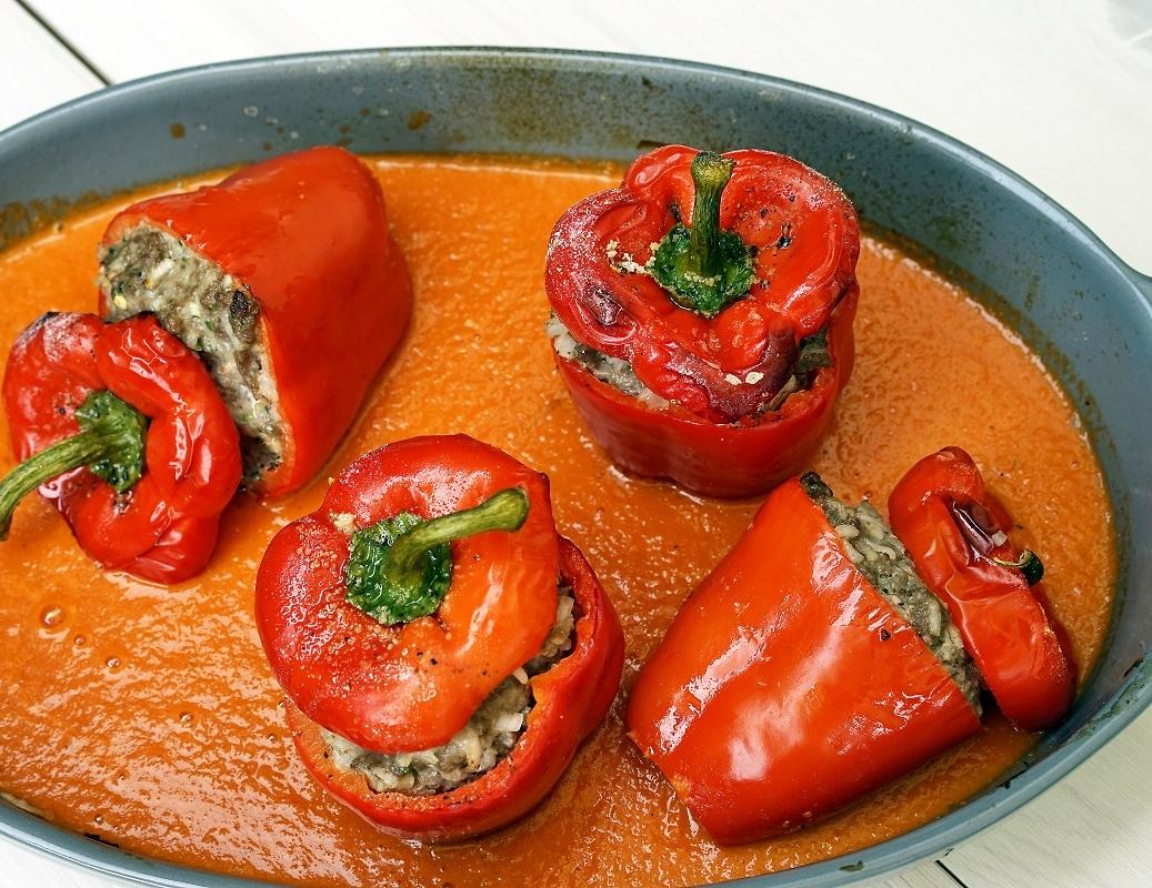 stuttgartcooking gef llte paprika mit reis und tomaten. Black Bedroom Furniture Sets. Home Design Ideas