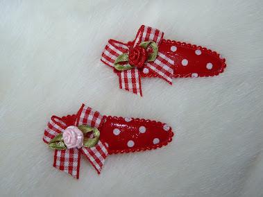 polka dot haircandy with vichy bow